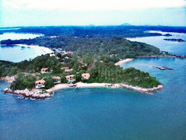 Located at Indra Maya Villas.Real sea front  villa.