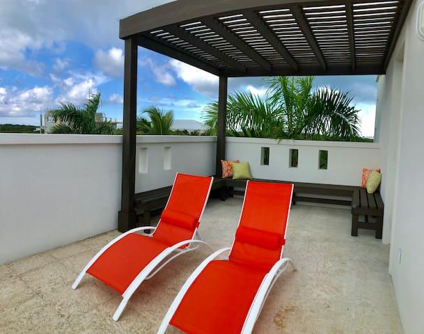 Private master patio Clear cover pergolas