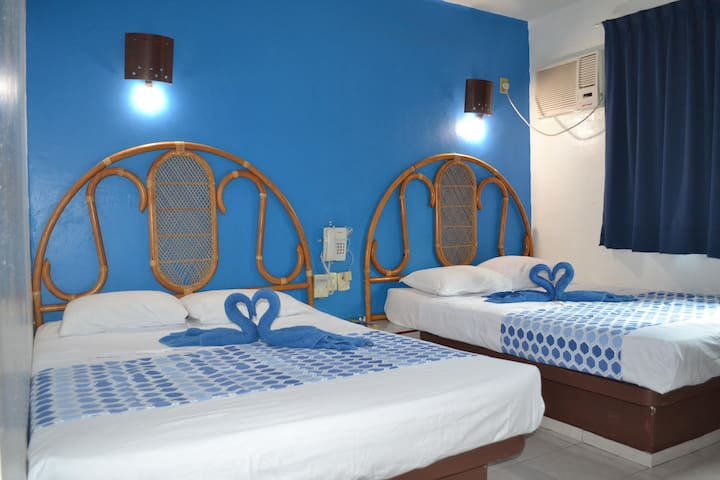 Céntrico, 2 camas matrimoniales, hab privada!