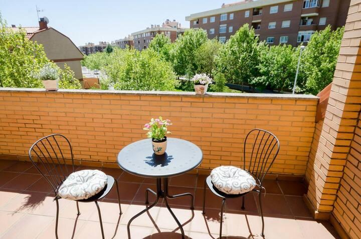 Hostal las Abadias - Habitacion doble deluxe con terraza