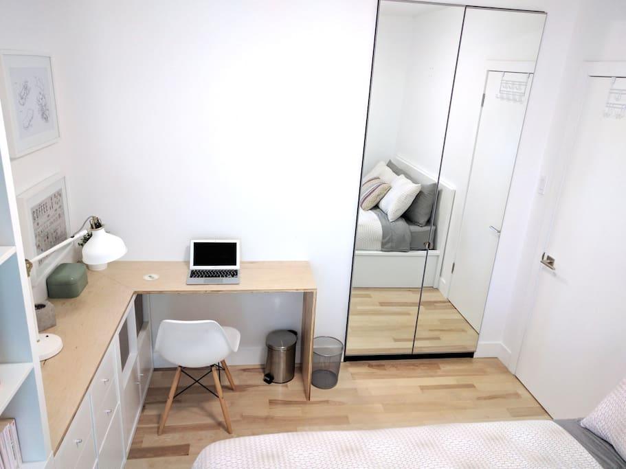 Bedroom + workspace