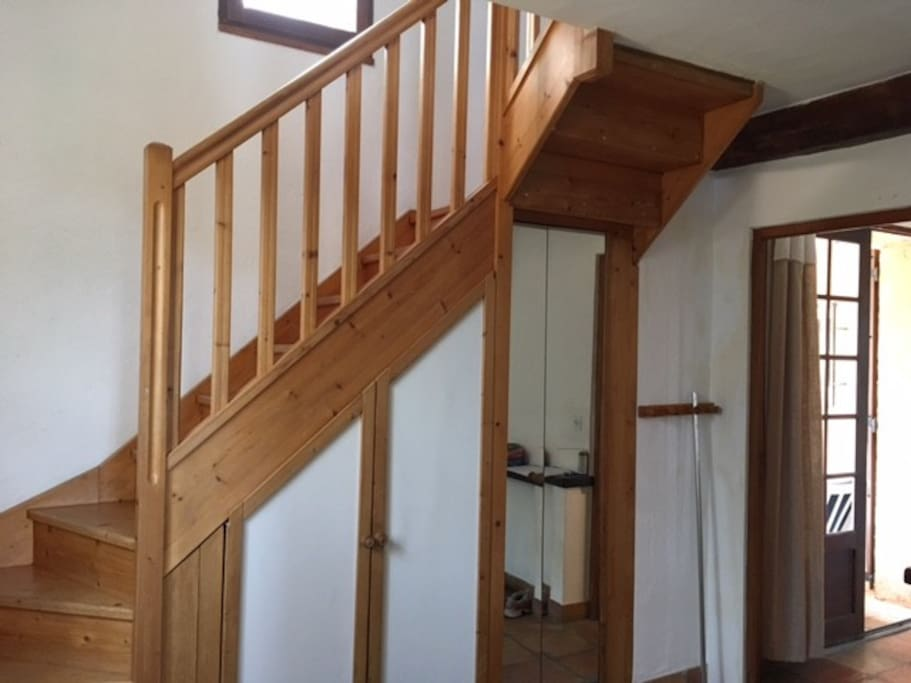 Stairs from bedroom D to your bedroom (A)