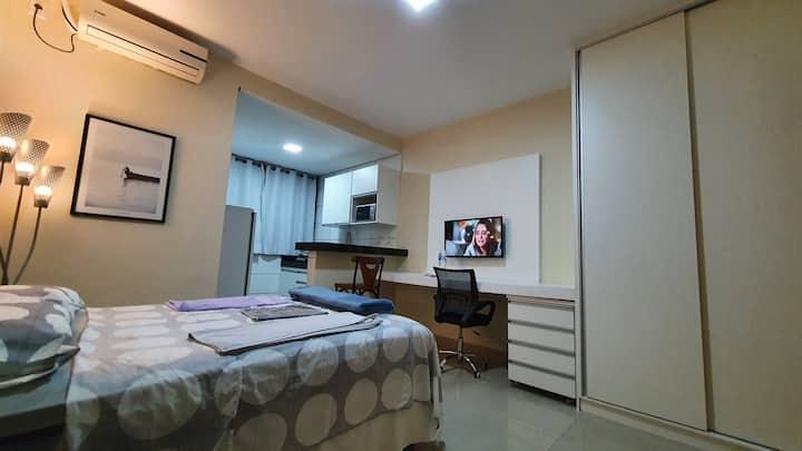 Studio quarto individual completo p 1 ou 2 pessoas
