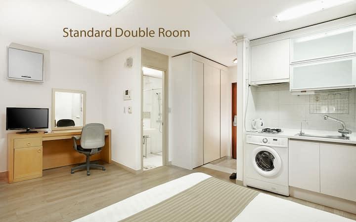 현대 레지던스 (Hyundai Residence) 장기 숙박 플랜 더블룸[2인]