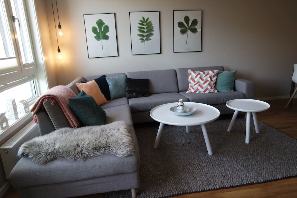 Large, cozy couch