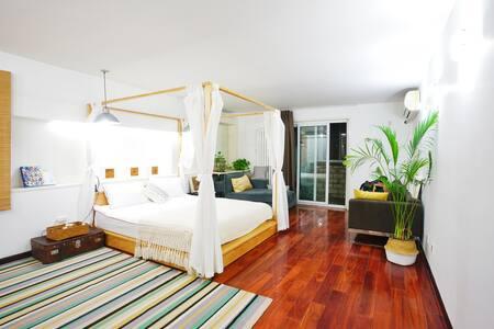 欢迎长租20%折扣正对鸟巢水立方温馨文艺120平米超大整套公寓