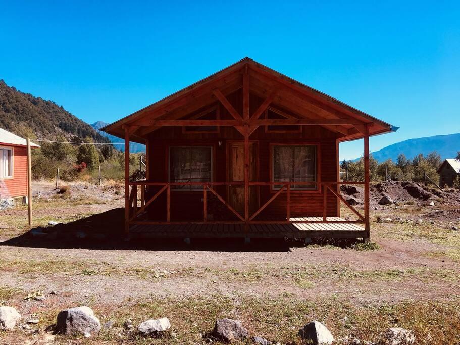Vista Cabaña para 4 Personas, posee la misma vista al volcán que la para 6 personas