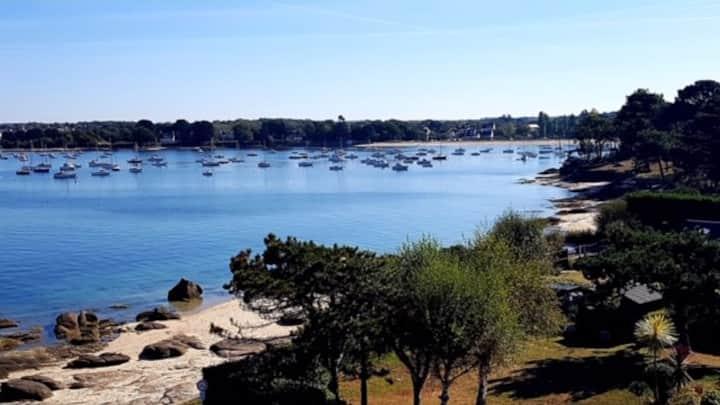Concarneau, Pointe du Cabellou, plages à 100 m