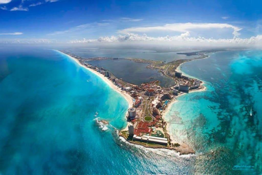 Cancun upper view