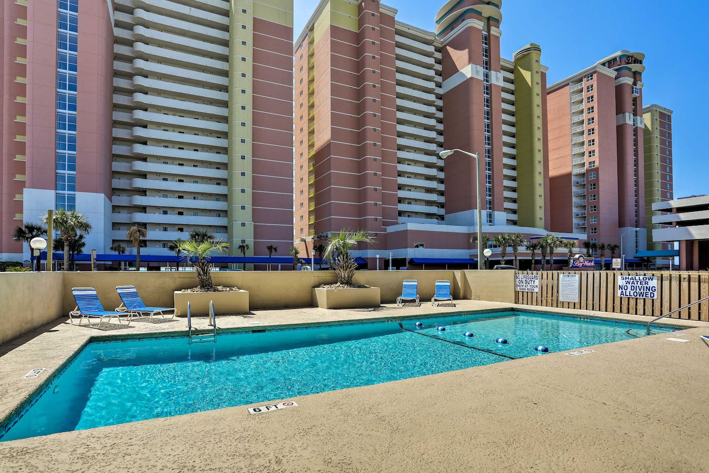 Relax by the pool at this North Myrtle Beach vacation rental condo!
