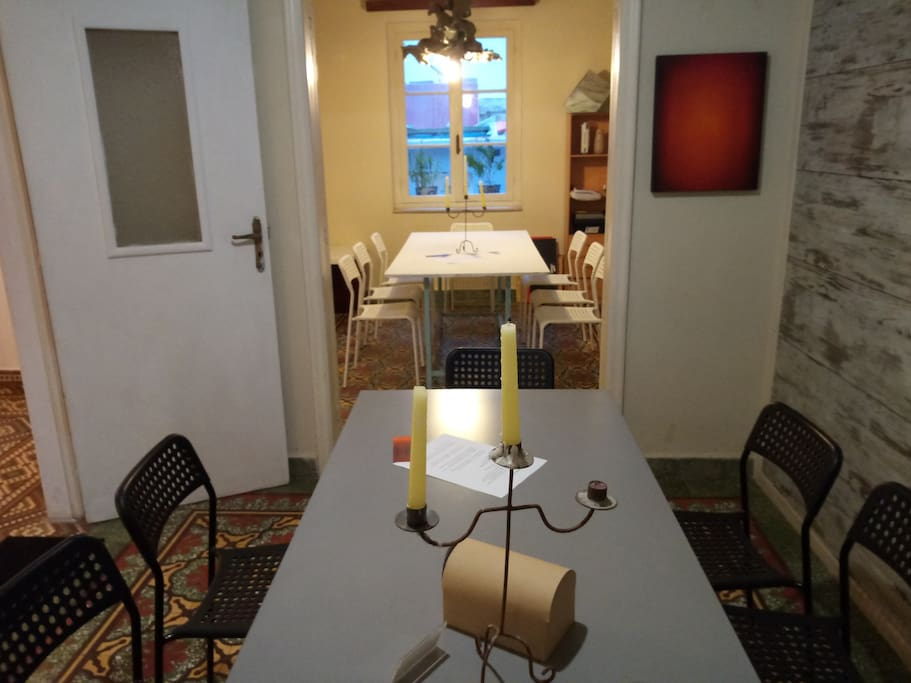 Dining room and working area