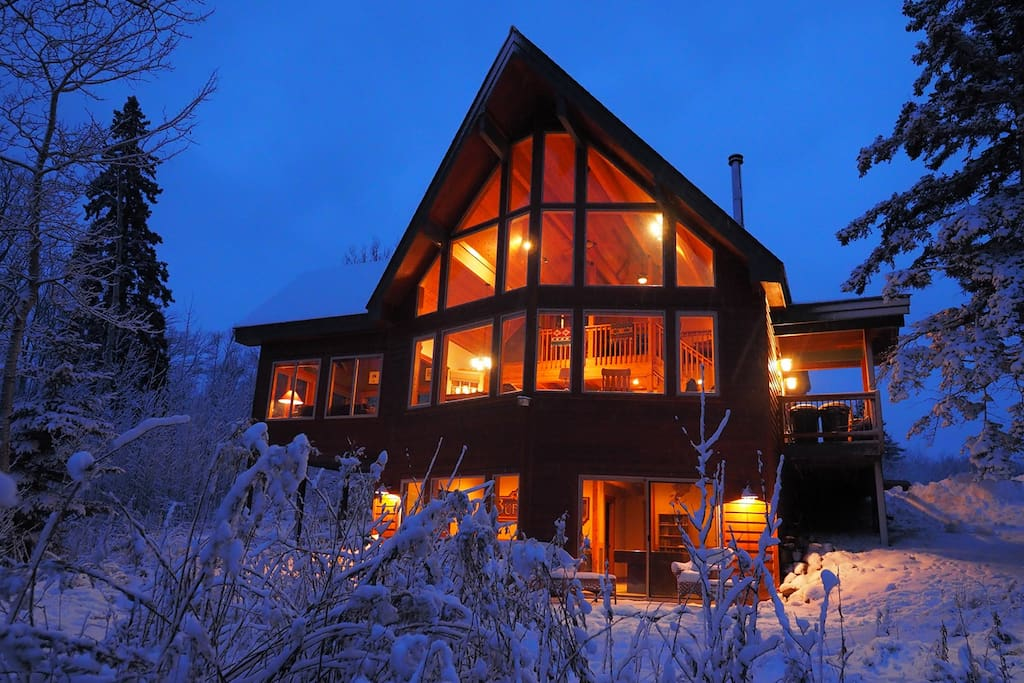 Cozy Forest Chalet in the Winter