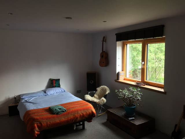Big quiet room in family home in a small village