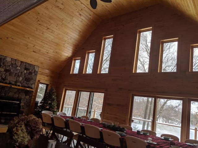 Christmas Chalet on a Lake in the Woods