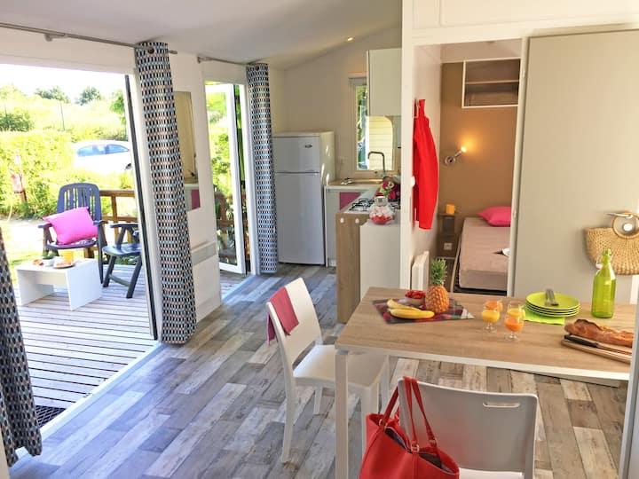 Mobil-home Privilège 2 chambres sur l'île d'Oléron