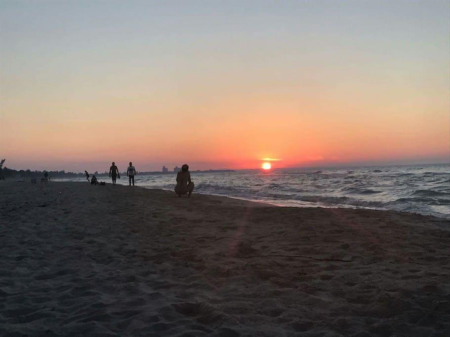 Bello atardecer de la playa de Varadero!!!