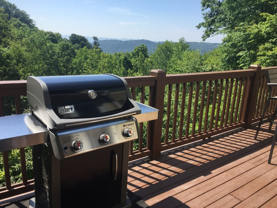 Outdoor Grilling on the deck.
