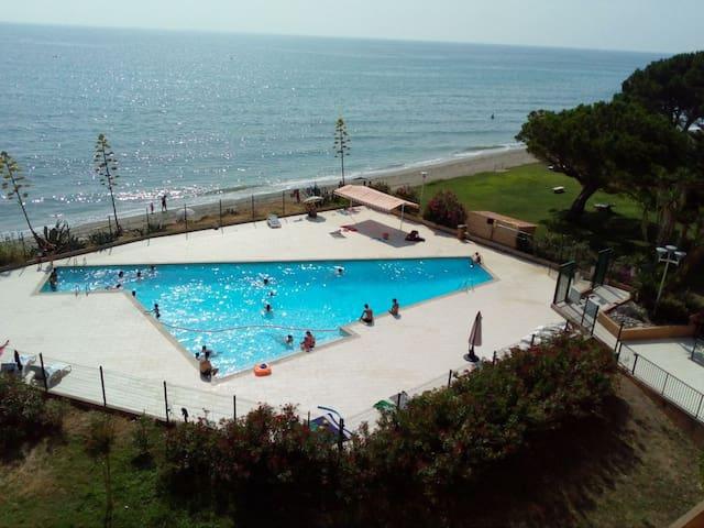 Corse, Moriani plage, appartement vue mer, piscine
