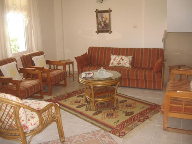 Living room at the base floor.