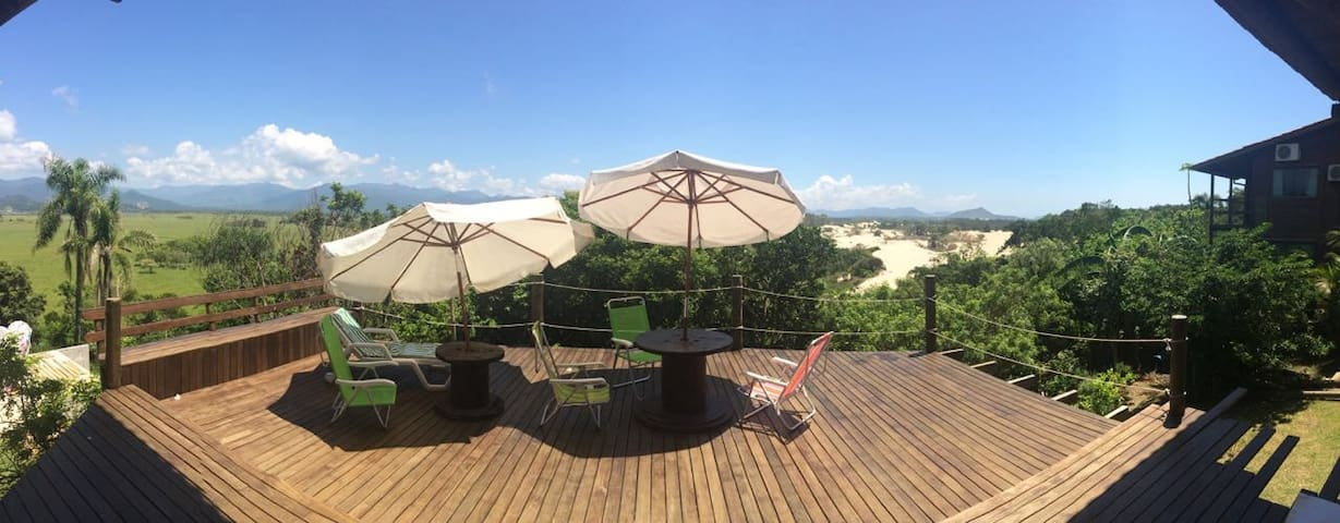 Quarto com Bela Varanda e Vista -Praia da Gamboa - Garopaba