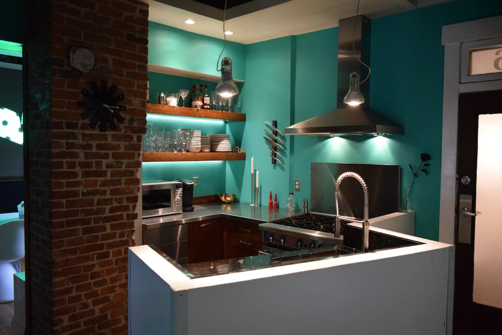 fully supplied kitchen