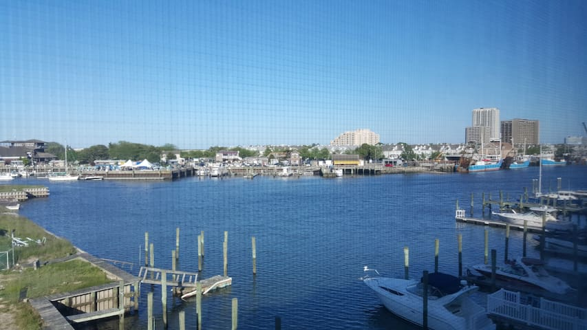 View of Harbor from upstairs balchony