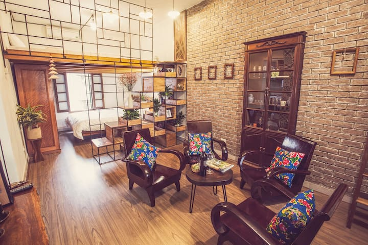A vintage decor apartment in Hanoi Old Town