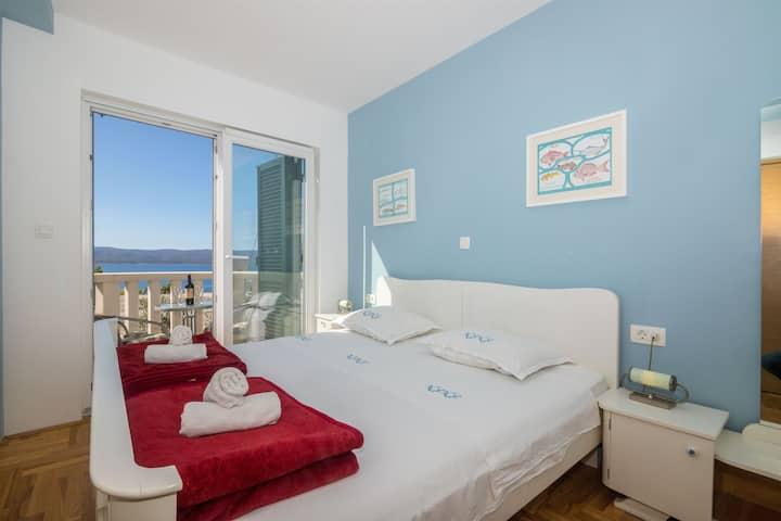 Jednoosobowy Apartament, Nad wybrzeżem, Mimice, Balkon