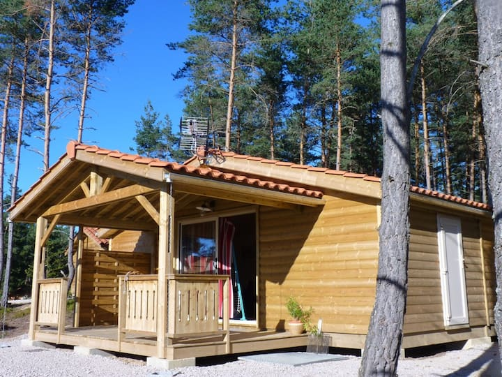 Wooden chalet of 41m2 for 4 people.