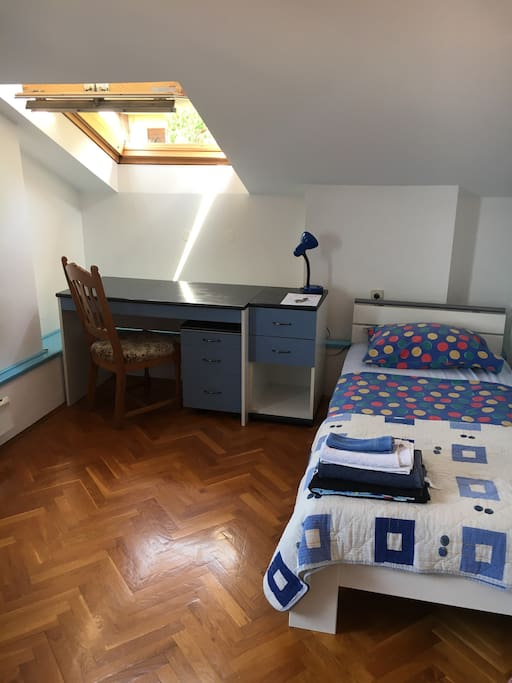 The bed with working table