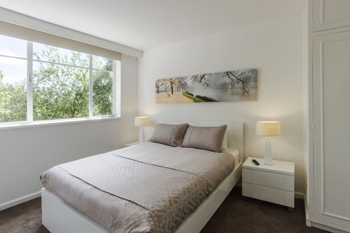Your apartment includes an original 2 metre wide canvas  of the Yarra river, photographed just around the corner.