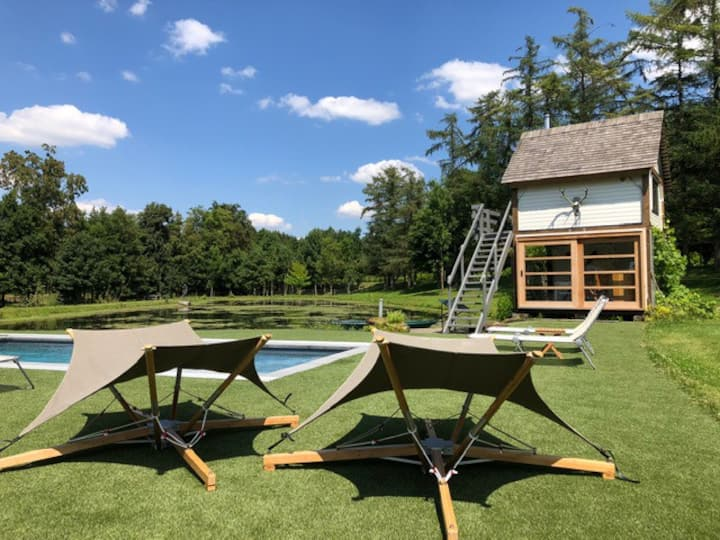 Domein les Étangs du Francbois: buitengewone Lodge