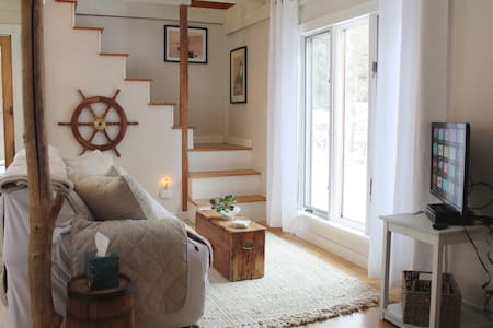 The Seamist Cottage. Converted historic barn.