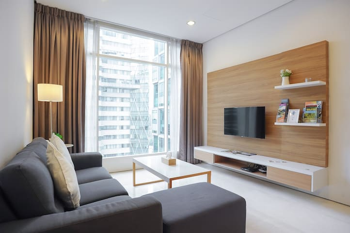 Soho Suites KLCC - Bright & Cozy 2 Bedroom Flat