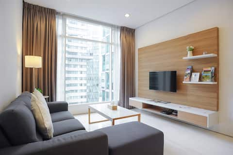 Soho Suites KLCC - Bright & Cozy 2 Bedroom Flat