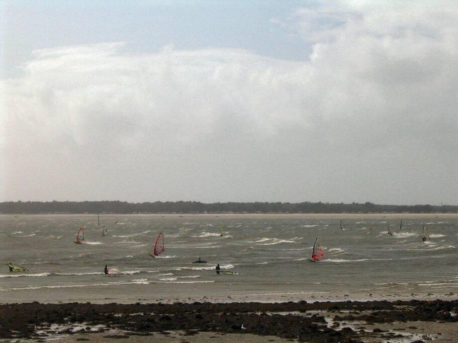 Vue plage de St-Colomban