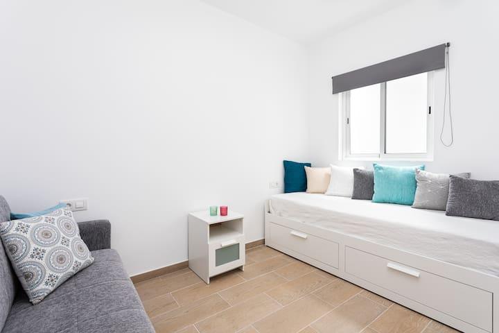 Second bedroom and livingroom