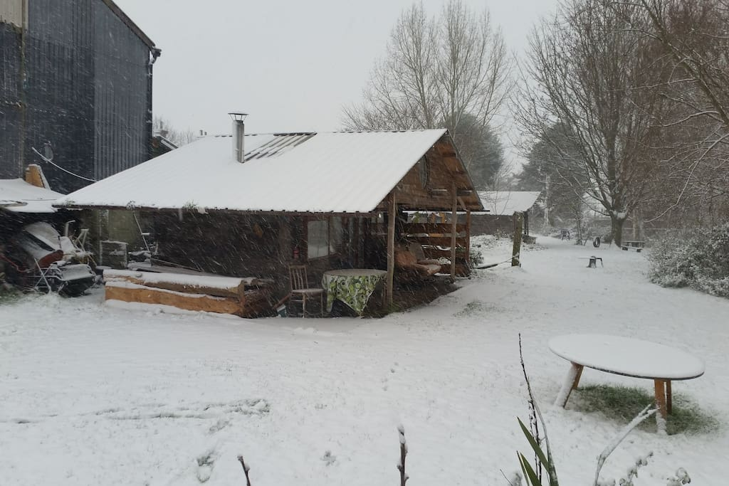 All looks very quaint in the snow