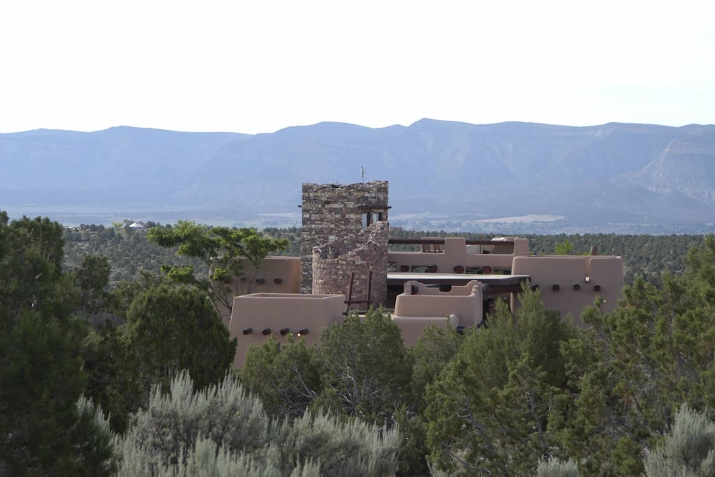 Looking South over home at Mesa Verde