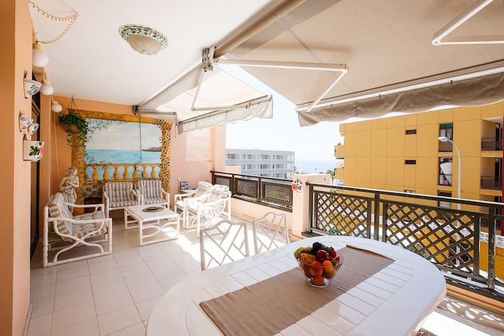 Big terrace, ocean view - Santiago del Teide - Apartamento