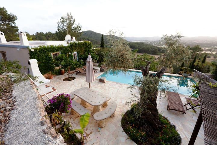 IBIZAN STYLE STONE VILLA WITH POOL FACING SUNSET