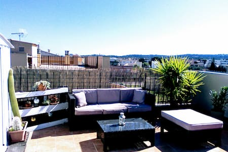 Friendly room in penthouse with fantastic terrace - Son Ferrer - Appartamento