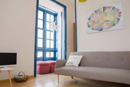 1B  Apartamento en el casco histórico-free wifi