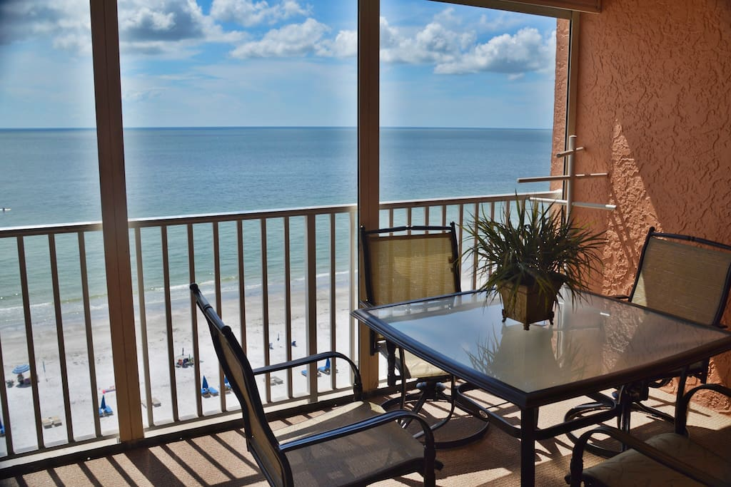 Beach front Balcony with Lots of extra seating