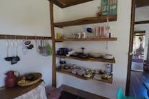 Cozinha montada com todos os utensílios necessários