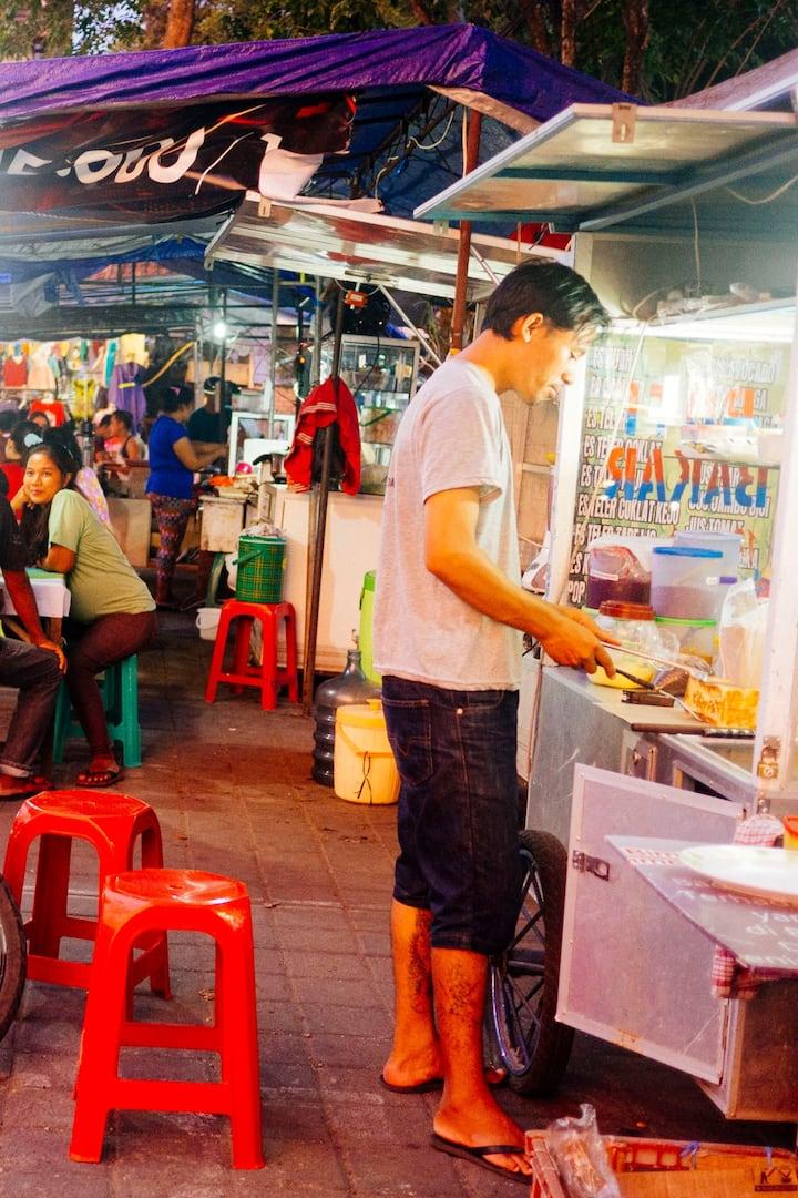 Enjoy variety of street foods along!