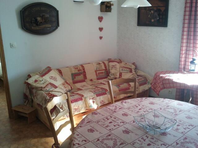 Sympathique appartement face au Mt d'Or.