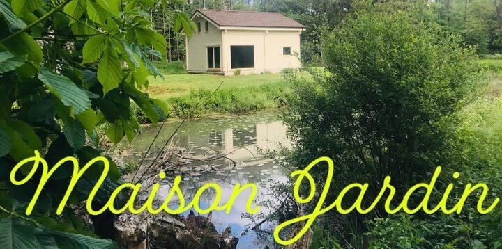 Luxe bungalow in groene omgeving