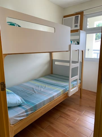 2nd Bedroom with a bunk bed.