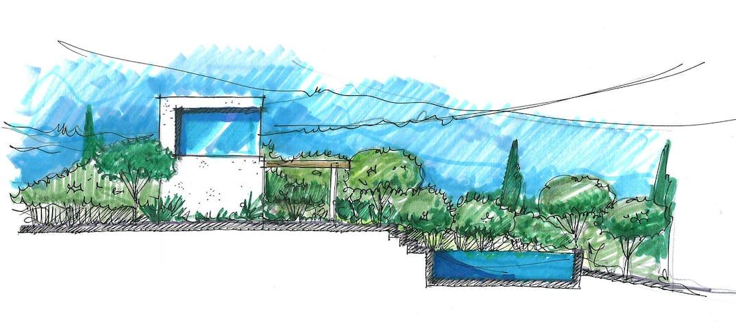 Casa Citerea. Estudio, terraza, piscina con vistas - Monda - Prázdninový dům